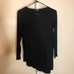 Eileen Fisher Black Long-sleeve Asymmetric Tunic S